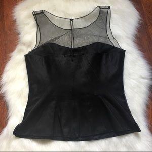 WHBM zip up corset top